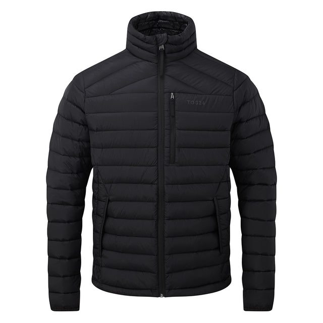 Drax Mens Funnel Down Jacket - Black image 3