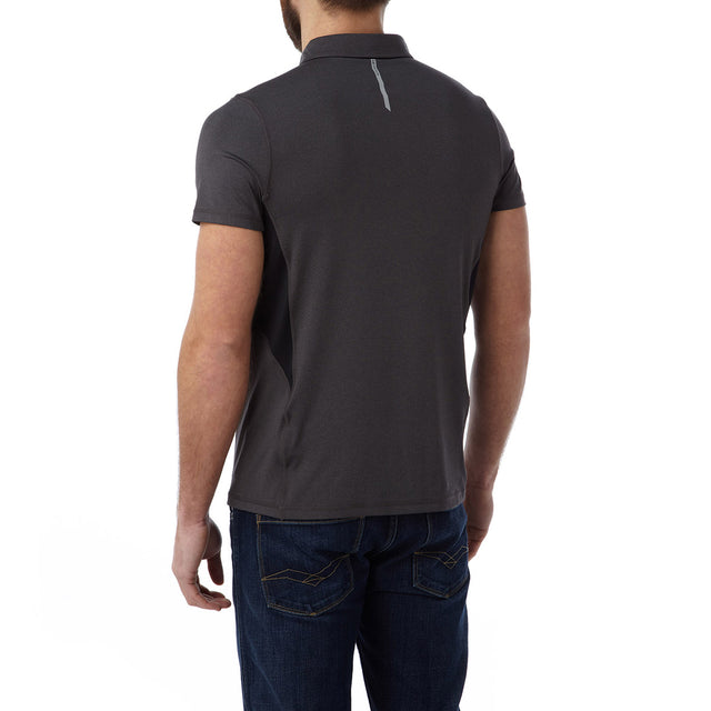 Dyno Mens TCZ Stretch Polo - Dark Grey Marl image 3