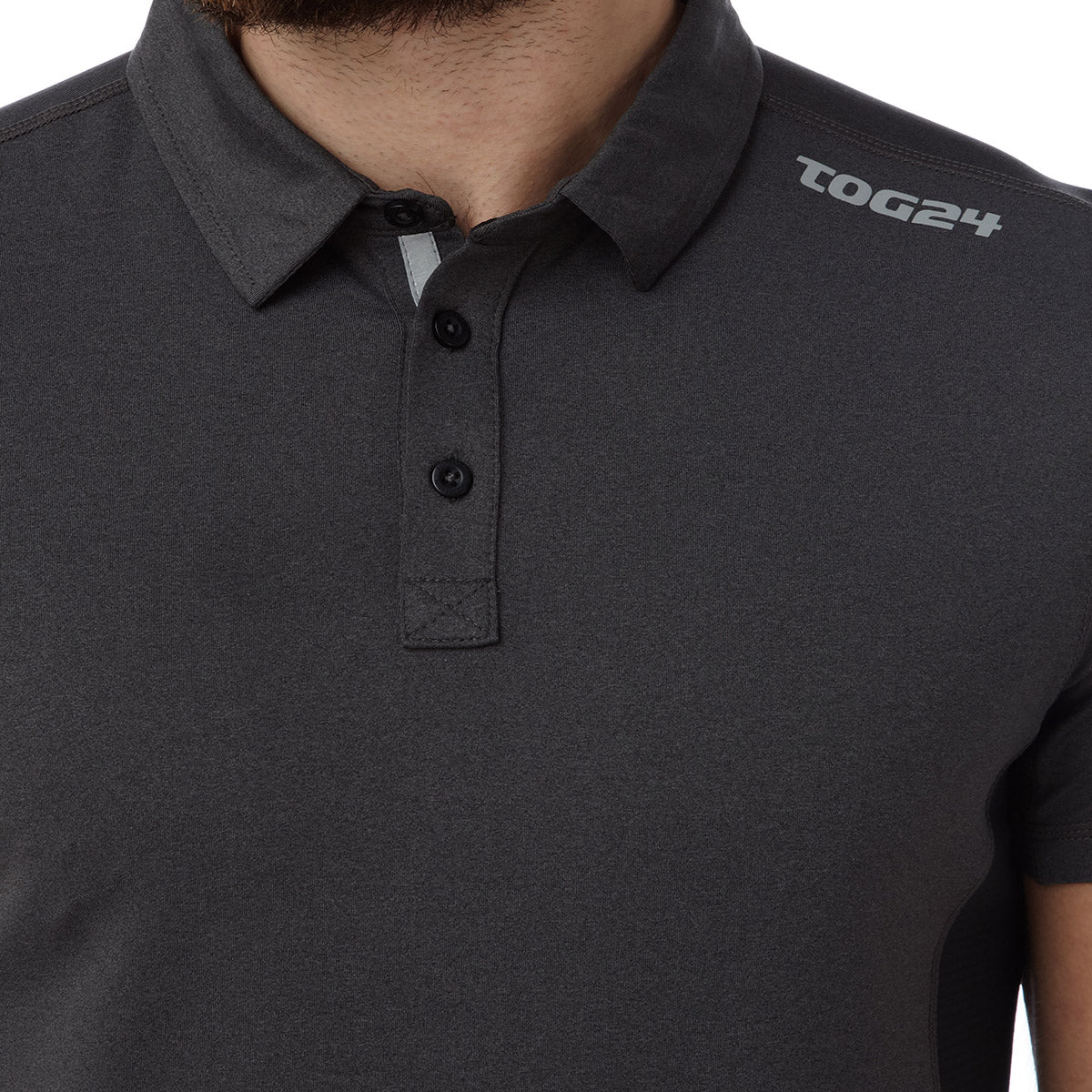 Dyno Mens TCZ Stretch Polo - Dark Grey Marl image 4