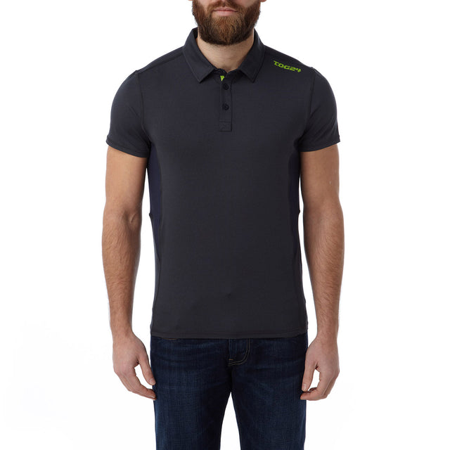 Dyno Mens TCZ Stretch Polo - Navy Marl image 2