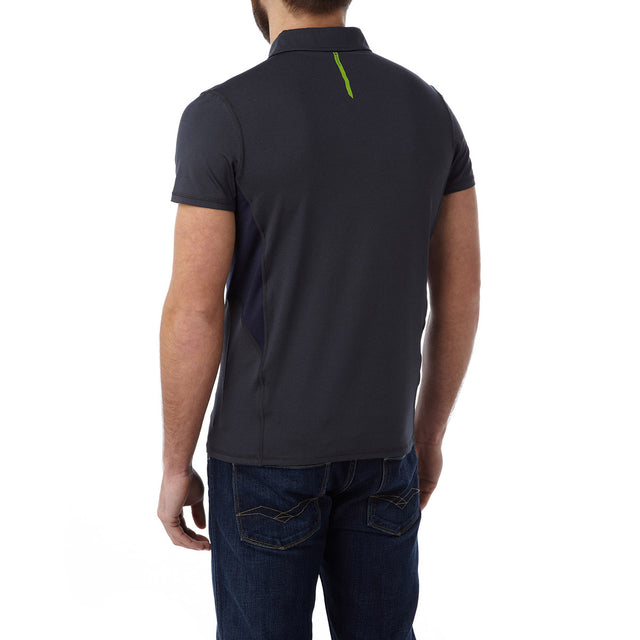 Dyno Mens TCZ Stretch Polo - Navy Marl image 3