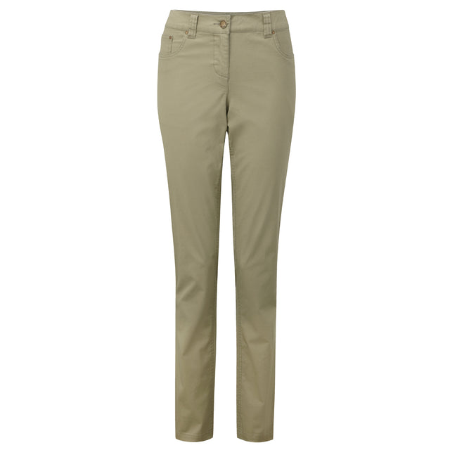 Ella Womens TCZ Stretch Trousers Long Leg - Stone