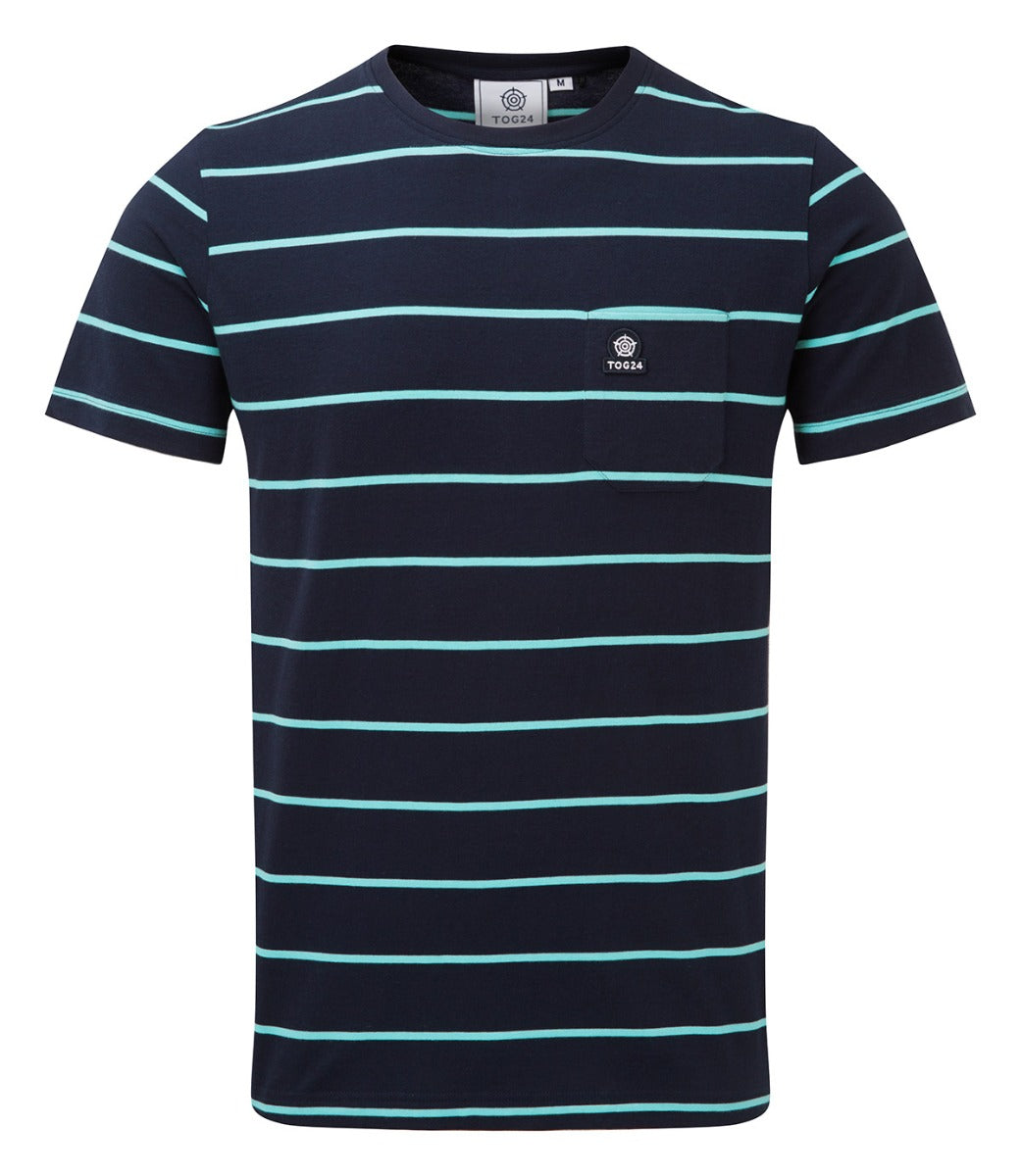 Elliot Stripe Mens T-Shirt - Navy image 4