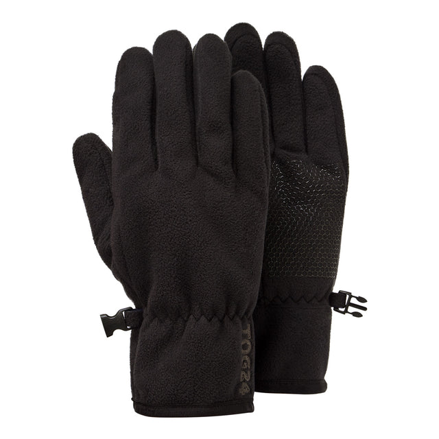 Eske Windproof Fleece Gloves - Black