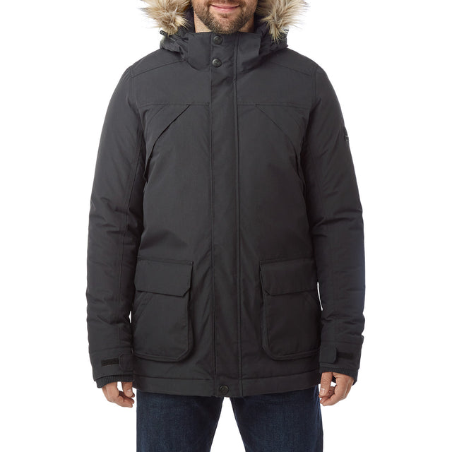 Essential Mens Waterproof Jacket - Black image 2