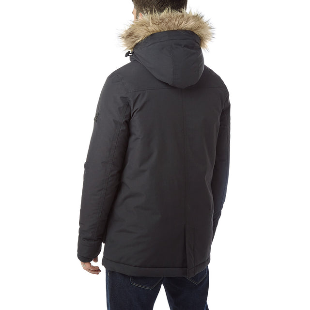 Essential Mens Waterproof Jacket - Black image 3