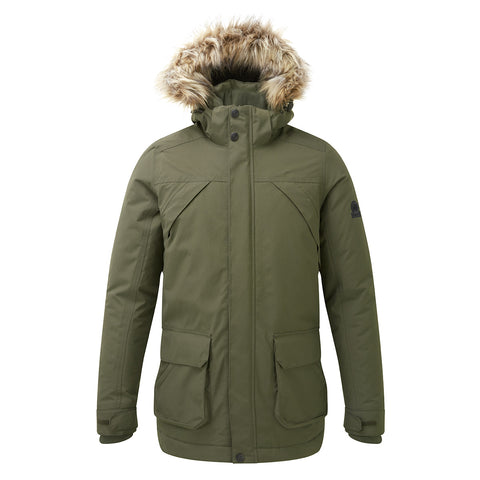 Essential Mens Waterproof Jacket - Dark Khaki