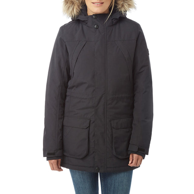 Essential Womens Waterproof Jacket - Black image 2