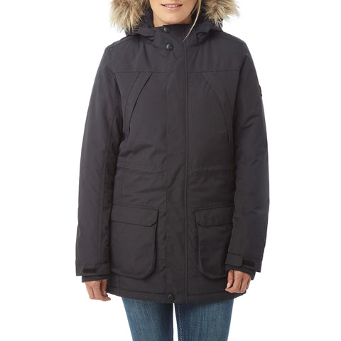 Essential Womens Waterproof Jacket - Black