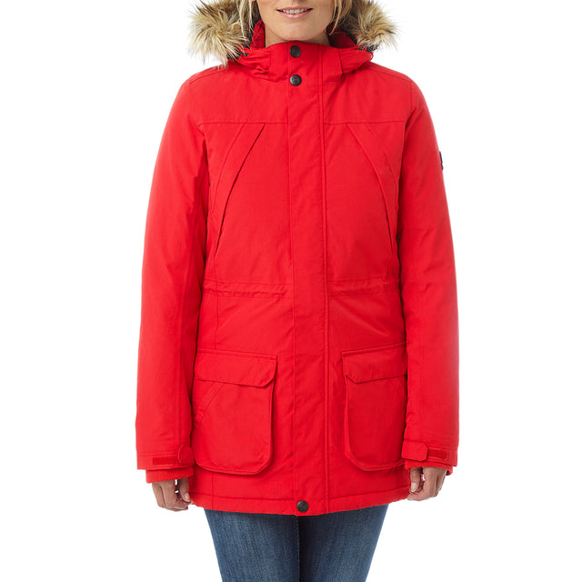 Essential Womens Waterproof Jacket - Rouge Red image 2