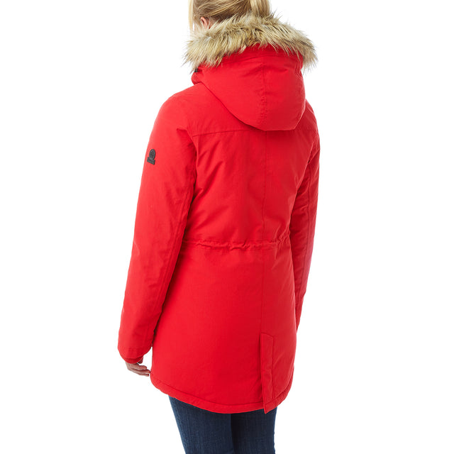 Essential Womens Waterproof Jacket - Rouge Red image 3
