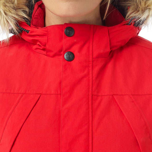 Essential Womens Waterproof Jacket - Rouge Red image 5