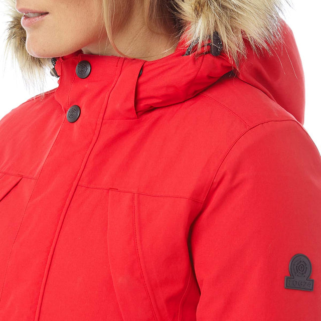 Essential Womens Waterproof Jacket - Rouge Red image 6