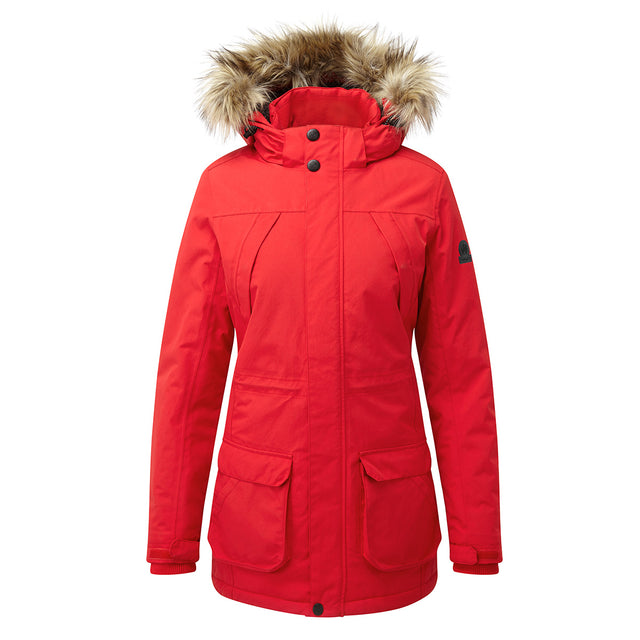 Essential Womens Waterproof Jacket - Rouge Red image 1