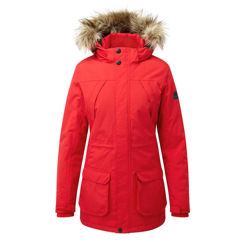 Essential Womens Waterproof Jacket - Rouge Red