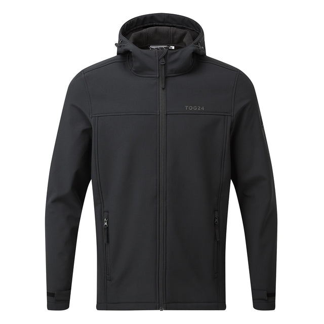 Feizor Mens Softshell Hooded Jacket - Black image 5