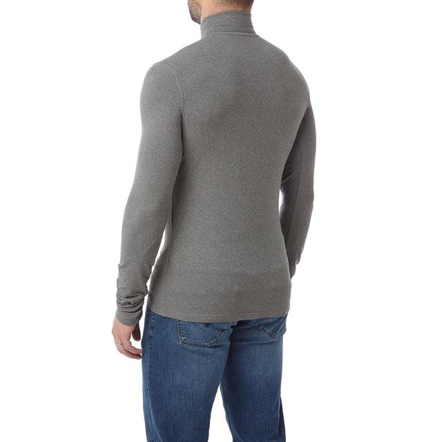 Fixby Mens Thermal Zipneck - Grey Marl image 3
