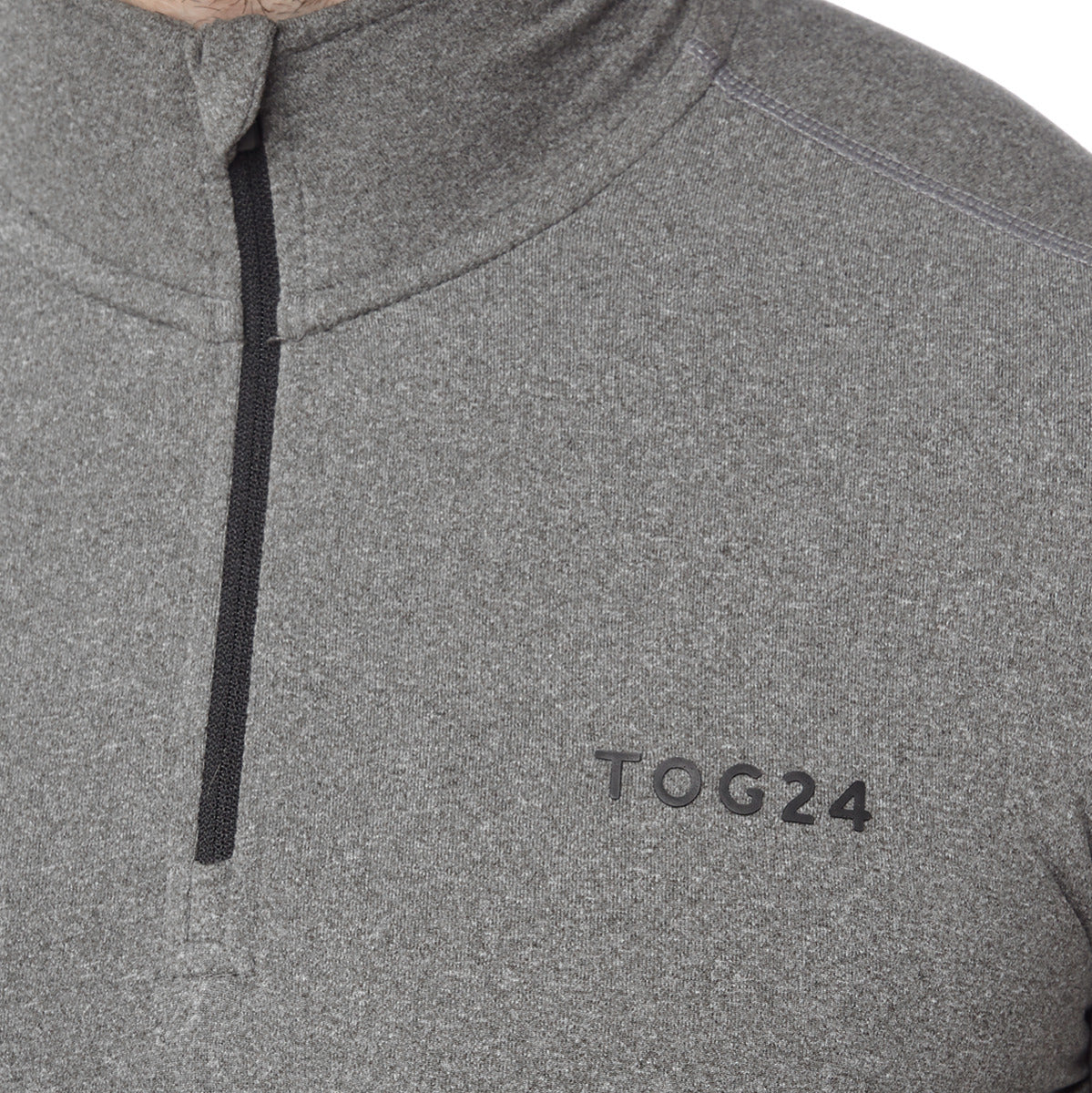 Fixby Mens Thermal Zipneck - Grey Marl image 4