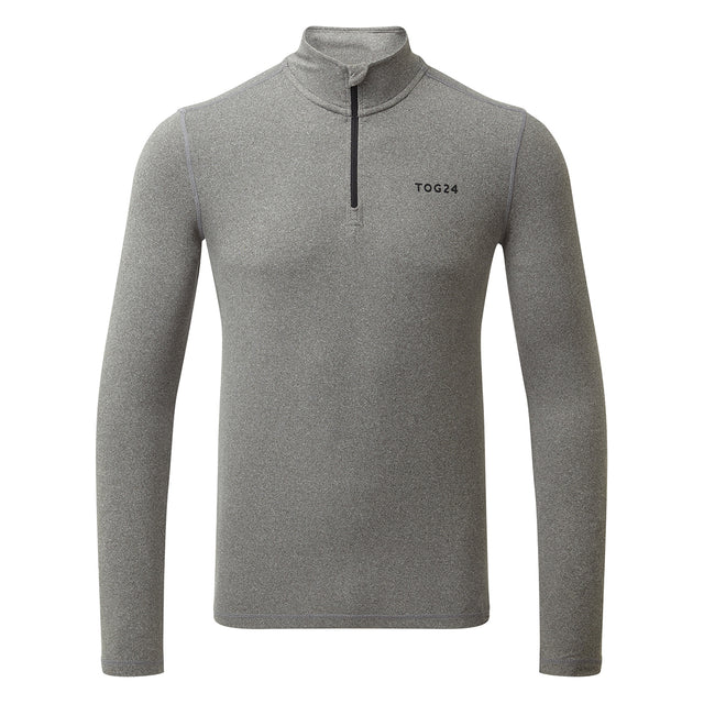Fixby Mens Thermal Zipneck - Grey Marl image 1