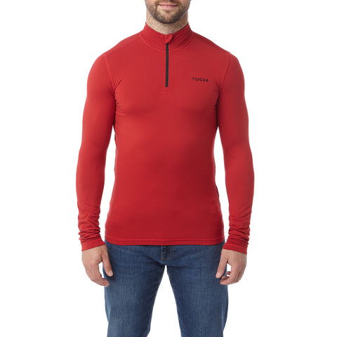 Fixby Mens Thermal Zipneck - Chilli