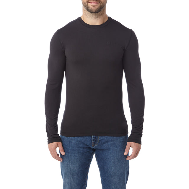 Fixby Mens Thermal Crew Neck - Black image 2