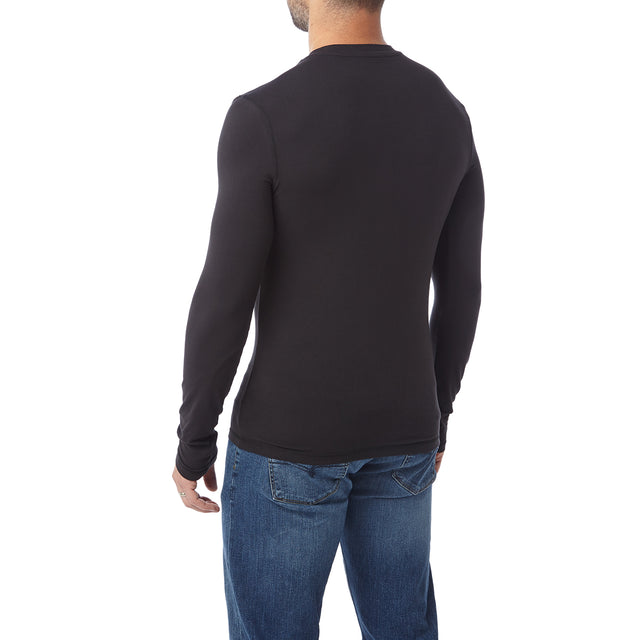 Fixby Mens Thermal Crew Neck - Black image 3