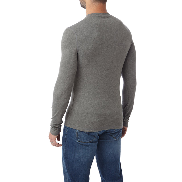 Fixby Mens Thermal Crew Neck - Grey Marl image 3