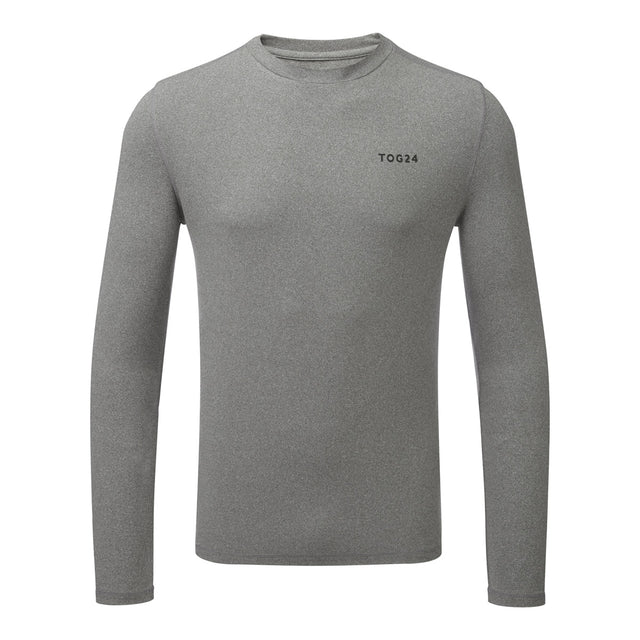 Fixby Mens Thermal Crew Neck - Grey Marl image 1