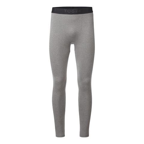 Fixby Mens Thermal Leggings - Grey Marl