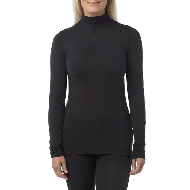 Fixby Womens Thermal Zipneck - Black image 2
