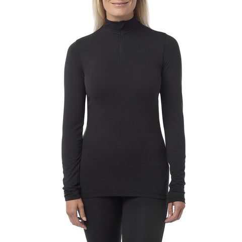 Fixby Womens Thermal Zipneck - Black