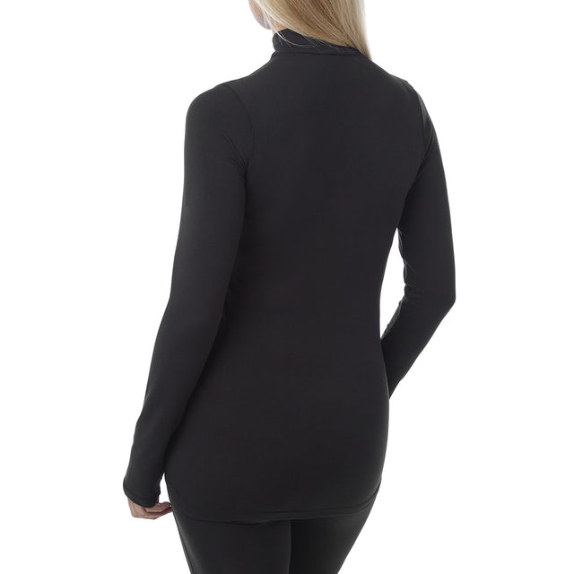 Fixby Womens Thermal Zipneck - Black image 3
