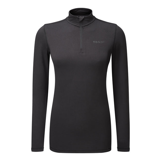 Fixby Womens Thermal Zipneck - Black image 1