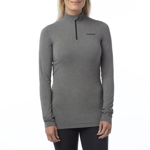 Fixby Womens Thermal Zipneck - Grey Marl image 2