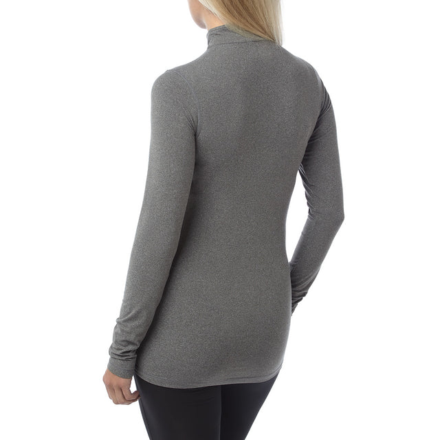 Fixby Womens Thermal Zipneck - Grey Marl image 3