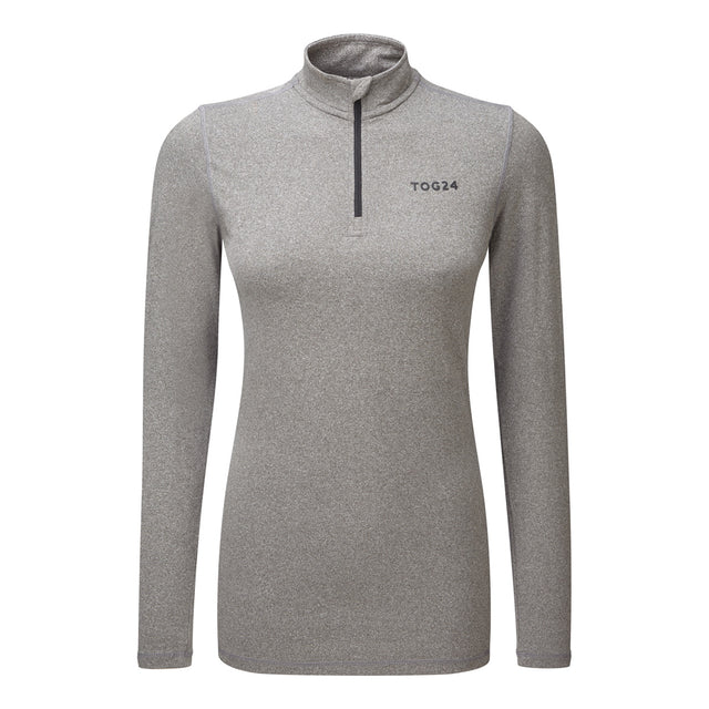 Fixby Womens Thermal Zipneck - Grey Marl image 1