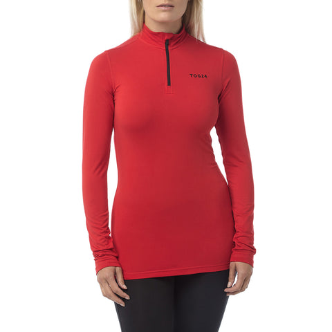 Fixby Womens Thermal Zipneck - Rouge Red