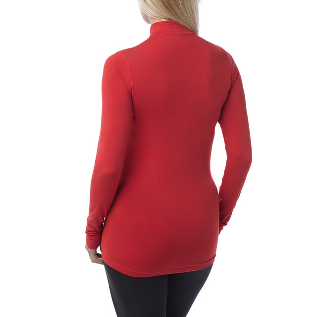 Fixby Womens Thermal Zipneck - Rouge Red image 3