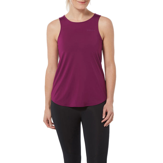 Flinn Womens Performance Vest - Mulberry image 2