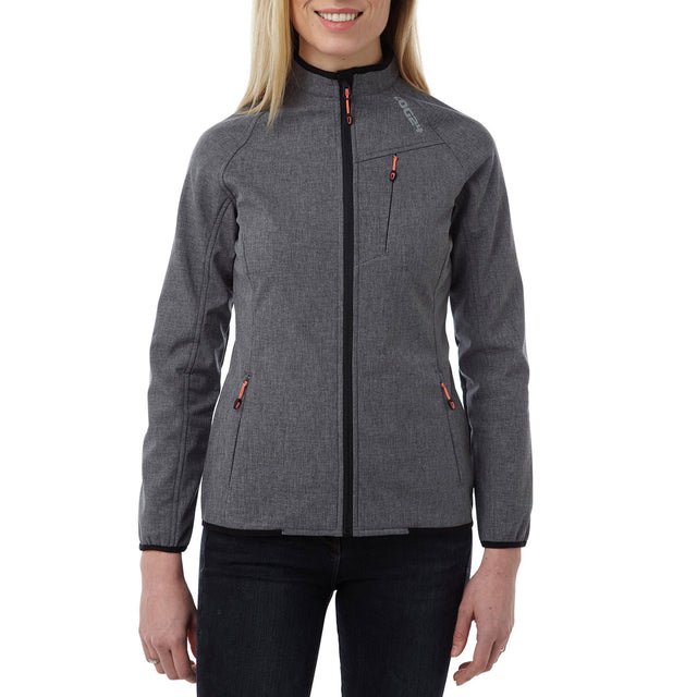 Foment Womens TCZ Softshell Reflective Jacket - Grey Marl image 2