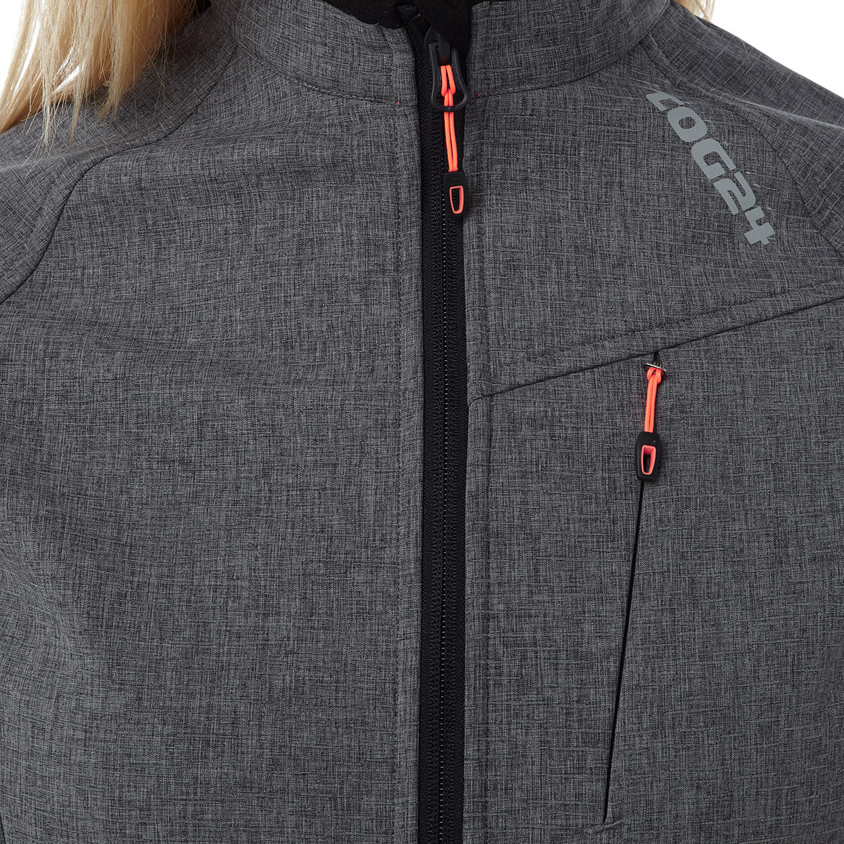 Foment Womens TCZ Softshell Reflective Jacket - Grey Marl image 4