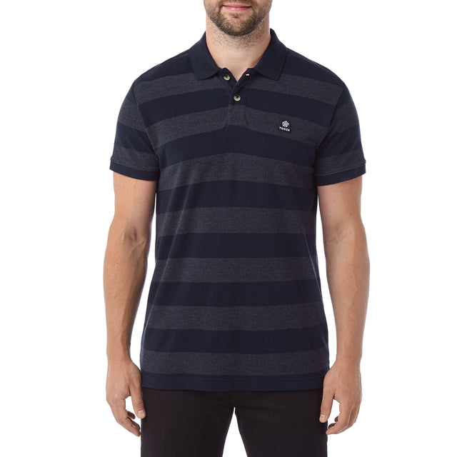 Fordon Mens Pique Polo Shirt - Navy image 2