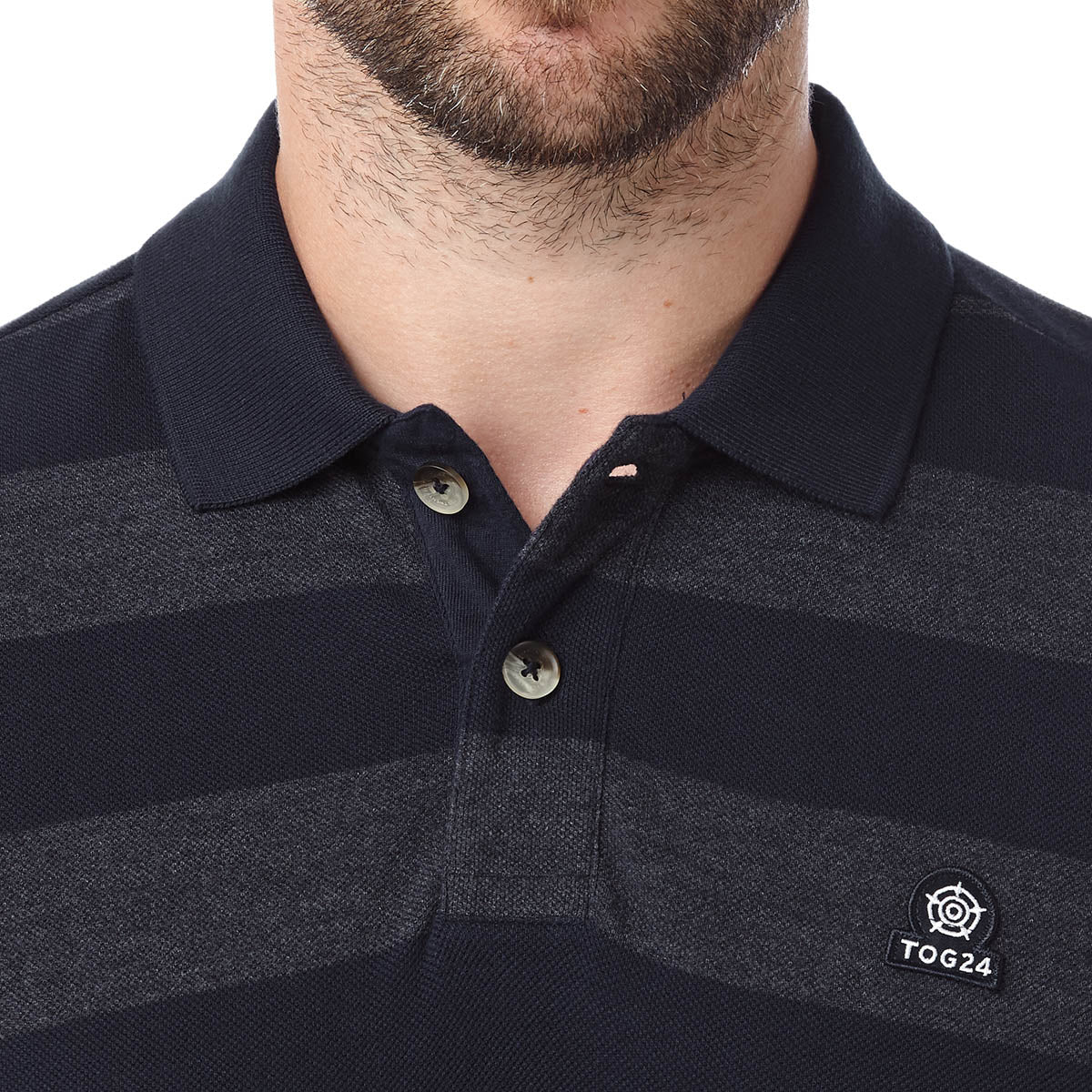 Fordon Mens Pique Polo Shirt - Navy image 4