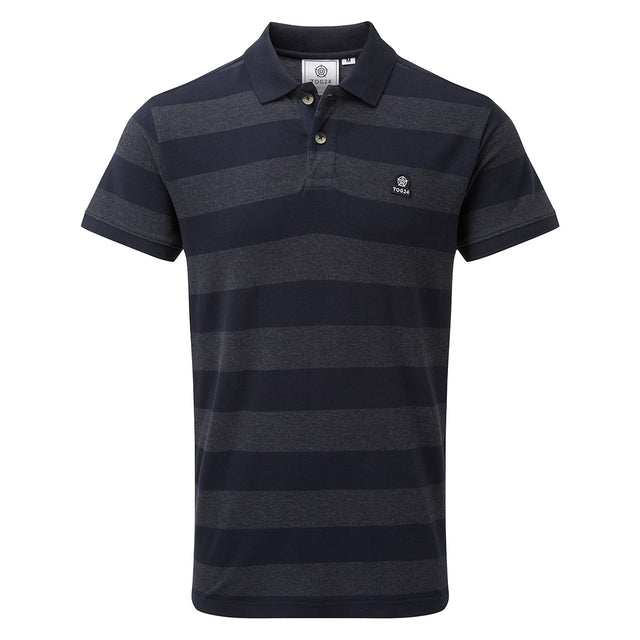Fordon Mens Pique Polo Shirt - Navy image 1