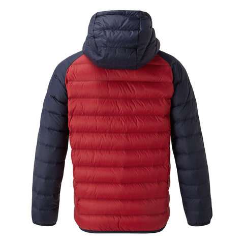 Fuse Kids Hooded Down Jacket - Chilli Red/Navy