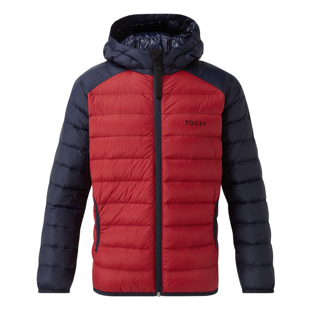 Fuse Kids Hooded Down Jacket - Chilli Red/Navy image 1