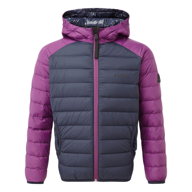 Fuse Kids Hooded Down Jacket - Navy/Grape image 1