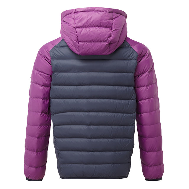 Fuse Kids Hooded Down Jacket - Navy/Grape image 2