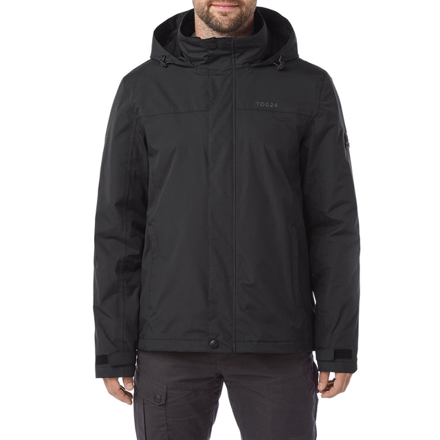 Gambit Mens Waterproof 3-In-1 Jacket - Black image 2