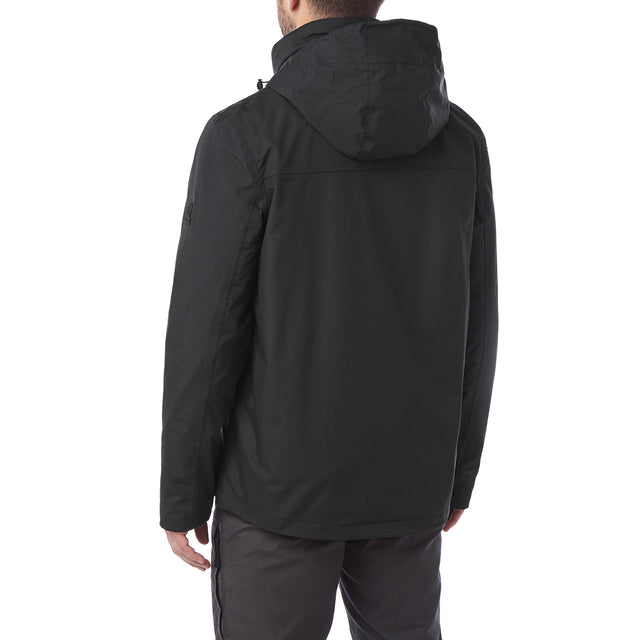 Gambit Mens Waterproof 3-In-1 Jacket - Black image 3